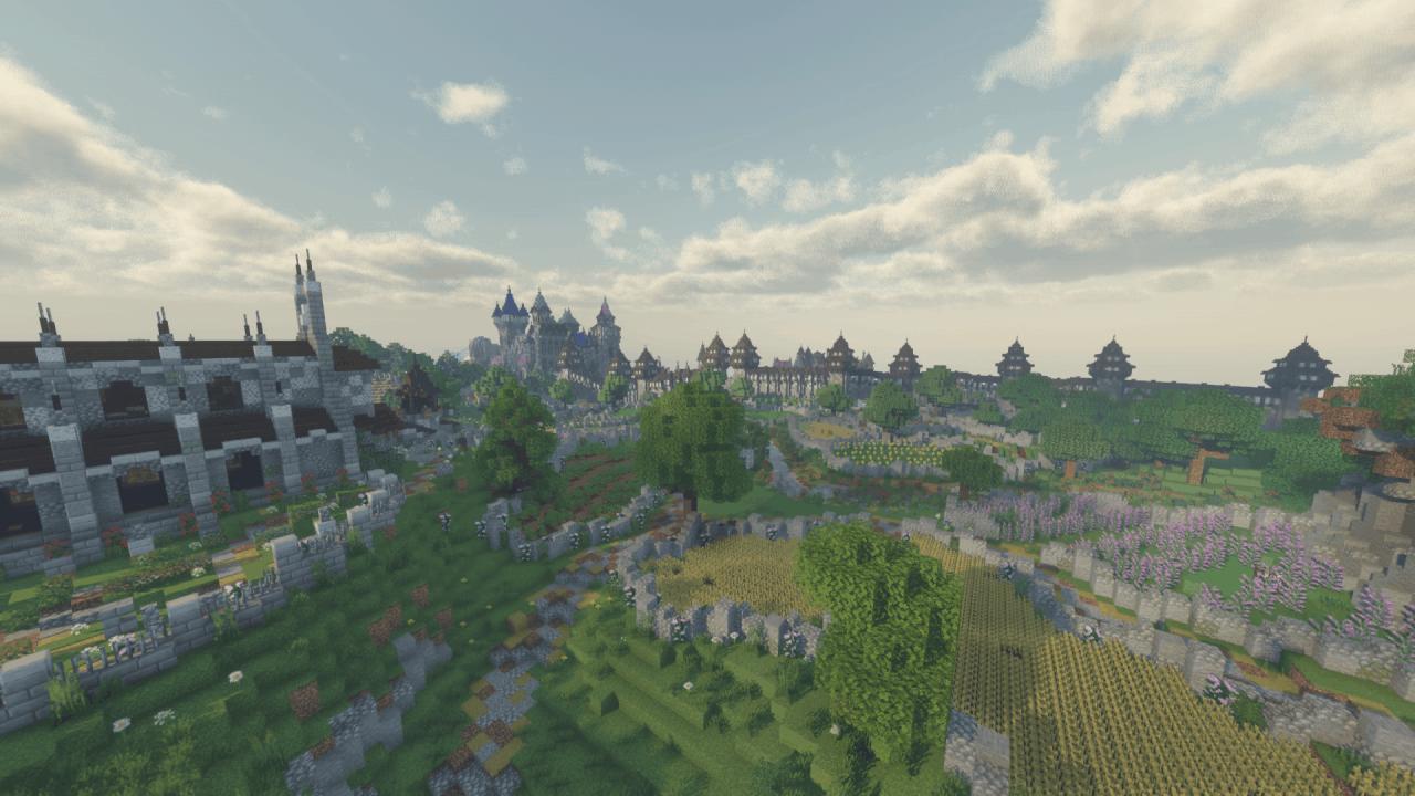 Village médiéval - Shader Voyager