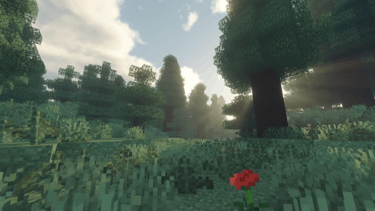 Forêt Minecraft - Shader Voyager