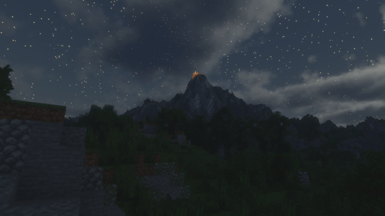 Montagne vu de nuit - Shader Voyager