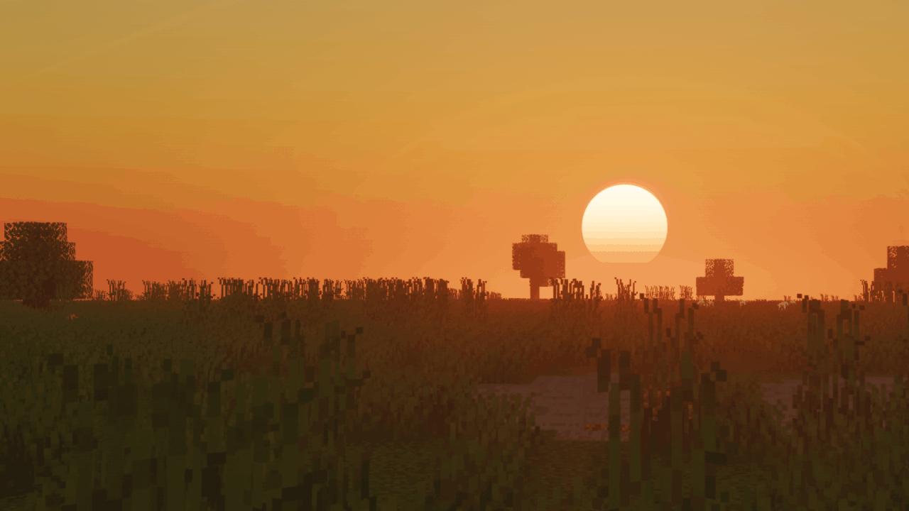 Coucher de soleil - Shader Voyager