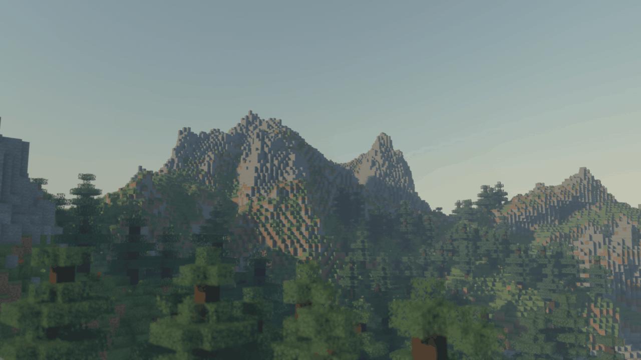 Voyager Shader : De grandes montagnes