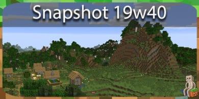 Photo of Minecraft 1.15 : Snapshot 19w40a