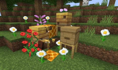 Les abeilles de la dernière mise à jour 1.15 de Minecraft