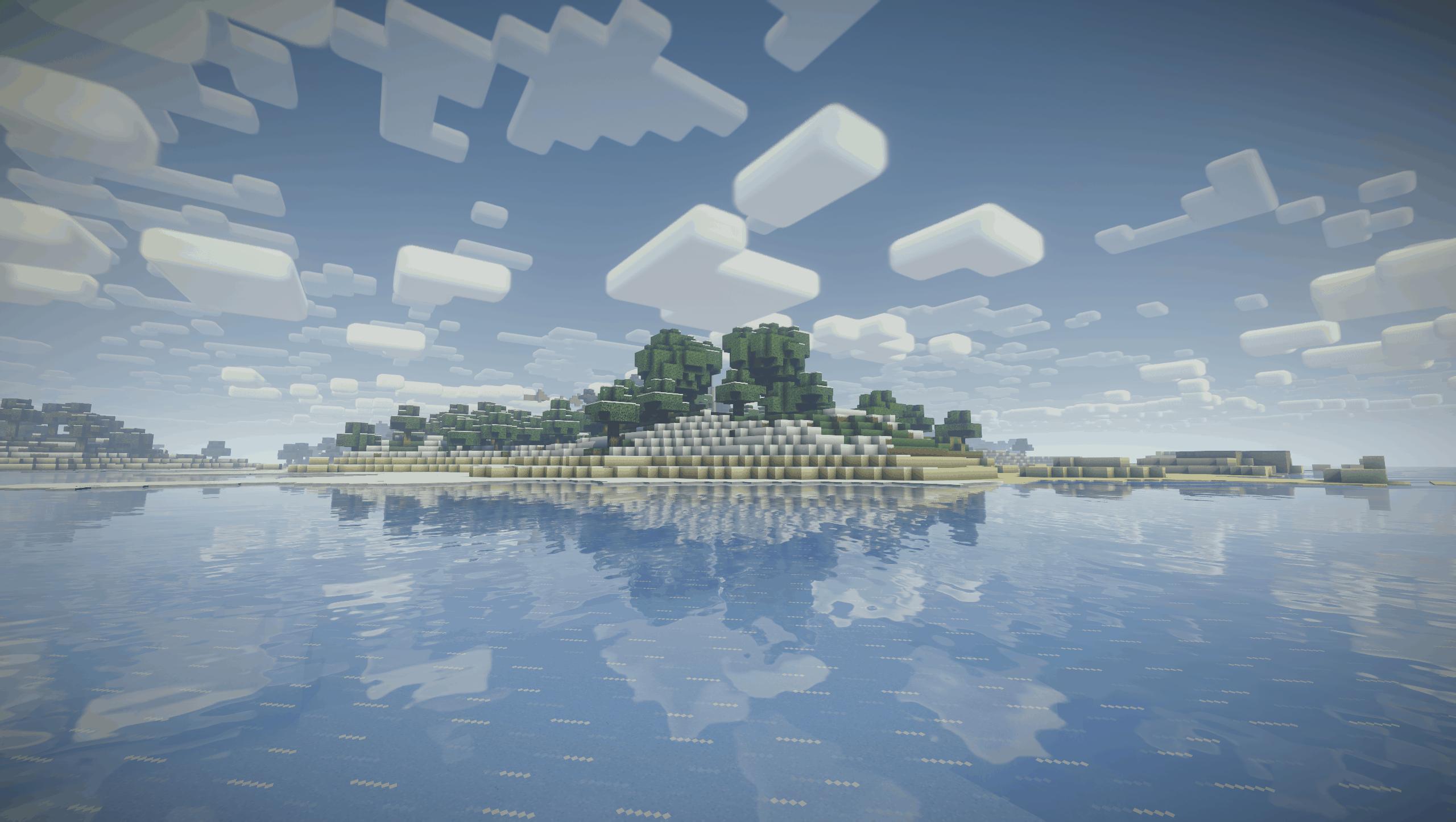 Nostalgia Shader - Une île avec une plage