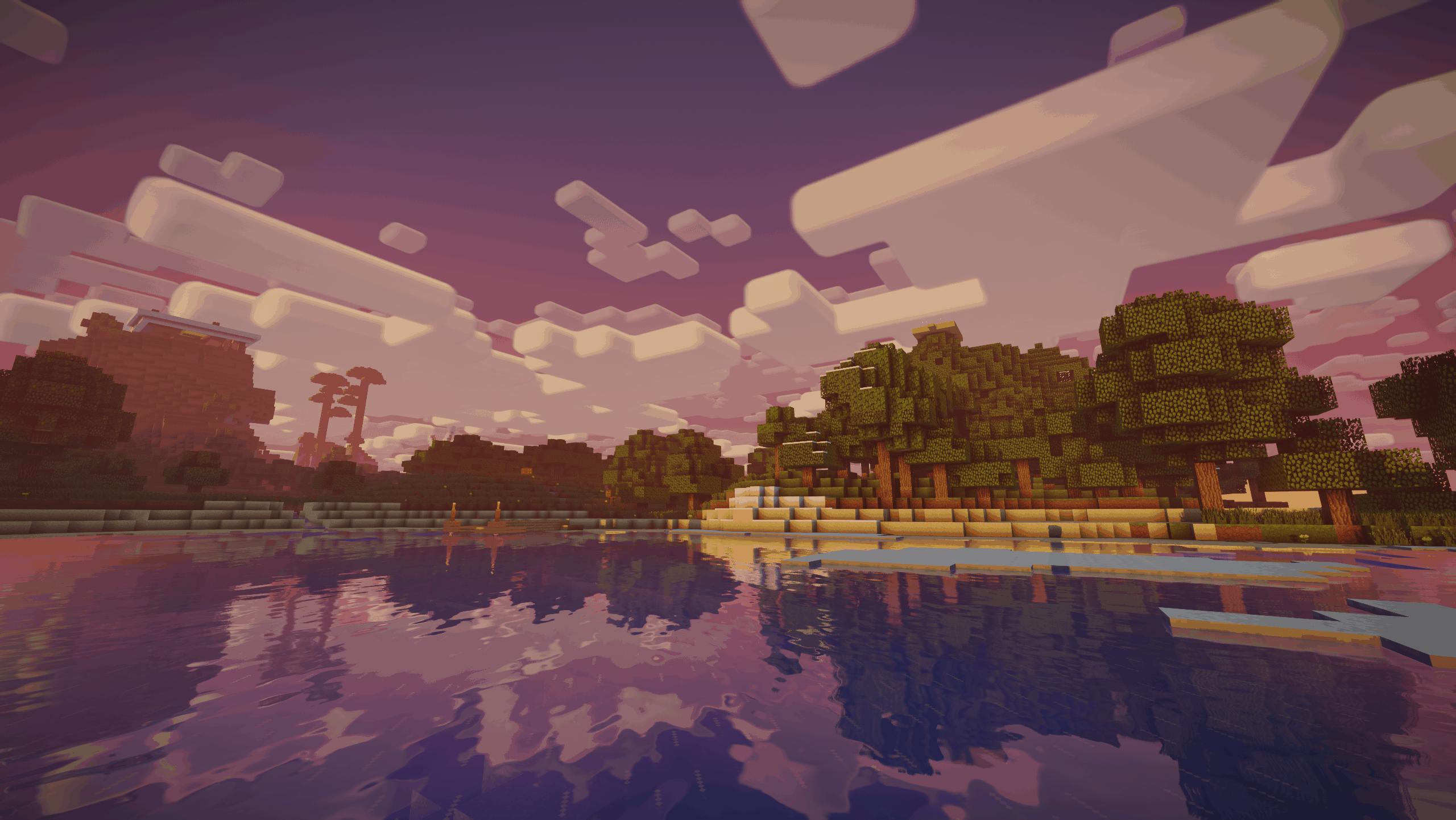 Nostlagia Shader : Une fin d'après midi dans Minecraft