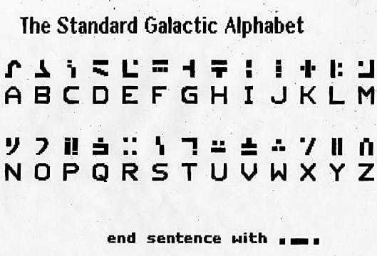Standard Galactic Alphabet