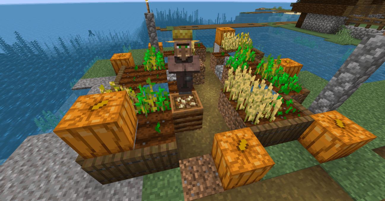Les villageois peuvent faire pousser des plantes avec de la poudre d'os