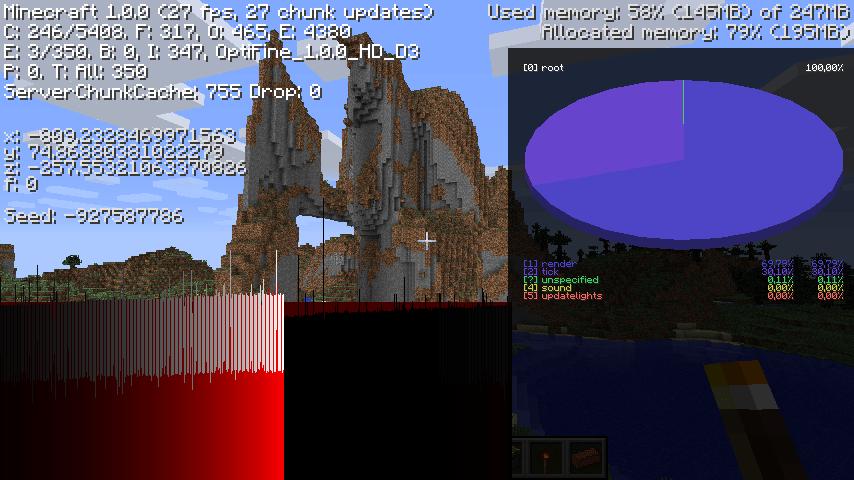 Minecraft avec Optifine
