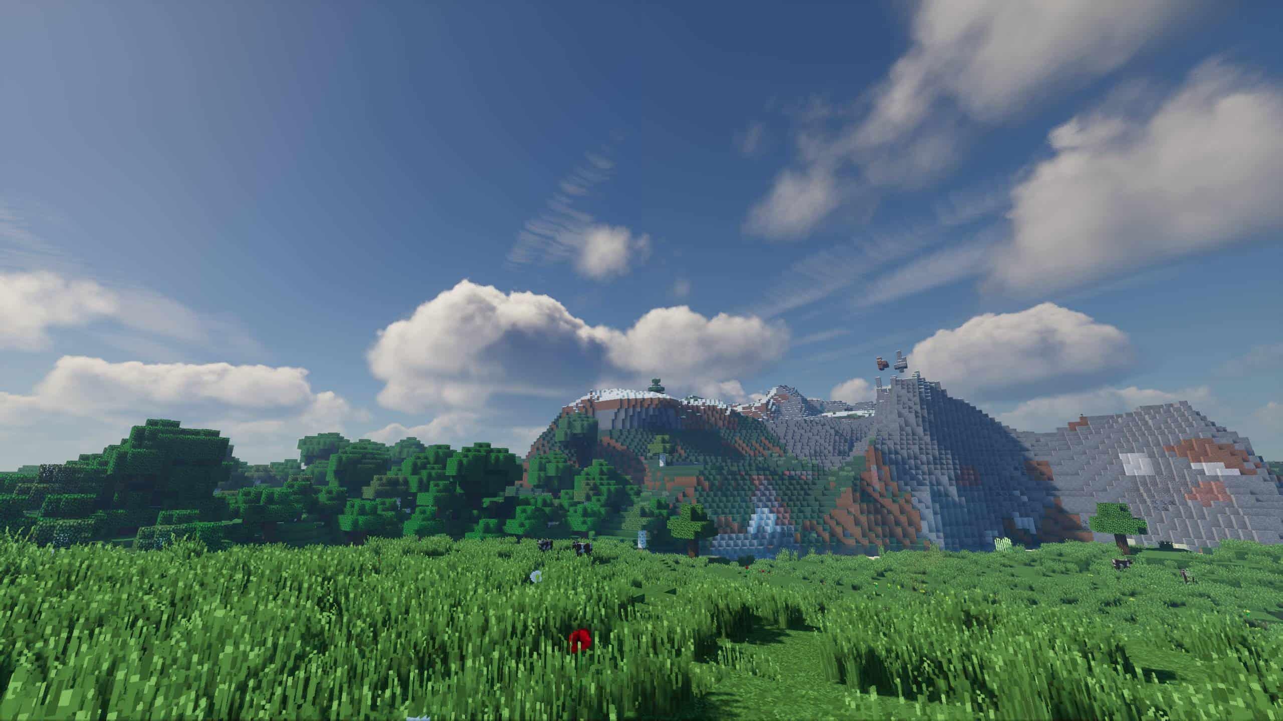 Des plaines avec des Montagnes en fond