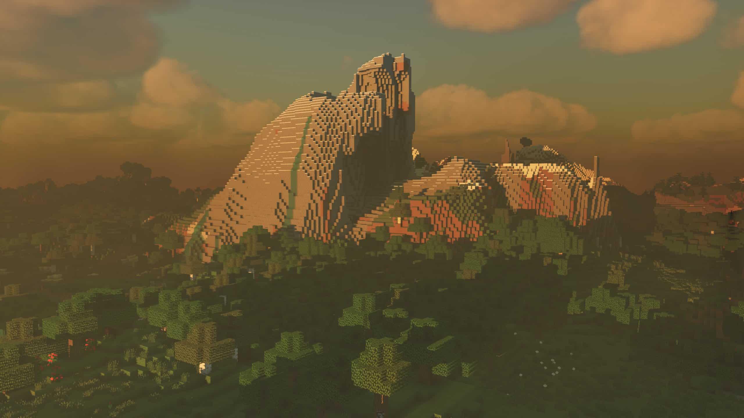 Kappa Shader : De grandes Montagnes avec une forêt