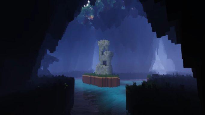 Relique dans une caverne