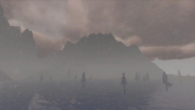 Montagne dans la brume
