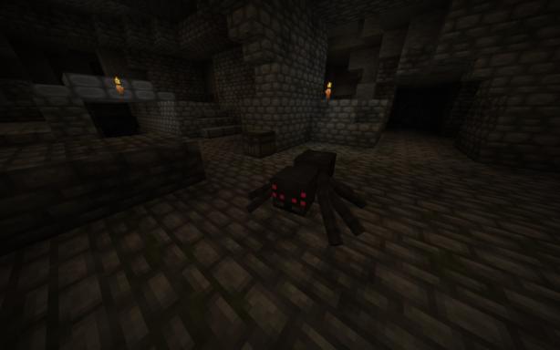 Une araignée effrayante