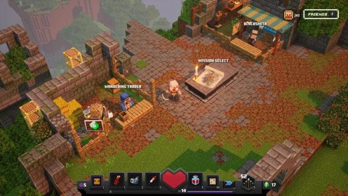 Le camp de base dans Minecraft Dungeons