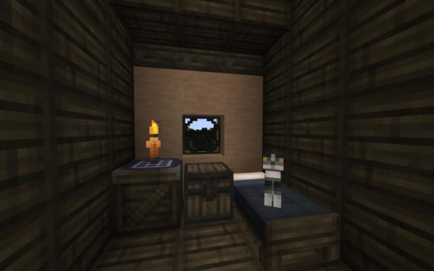 Une chambre décorée avec Corocraft