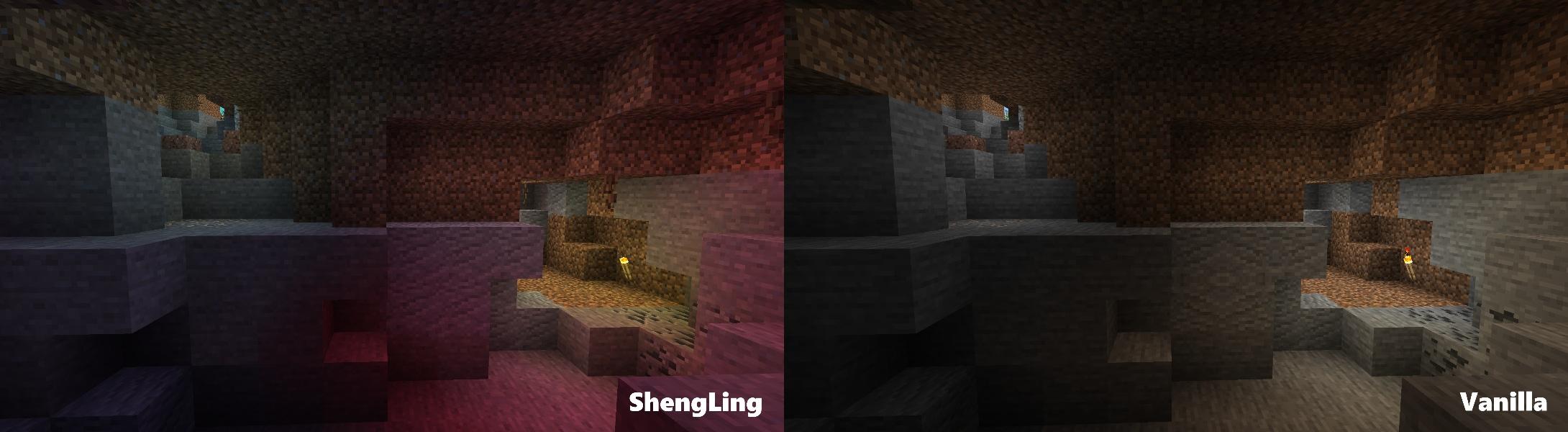 L'effet de la lumière dans une grotte
