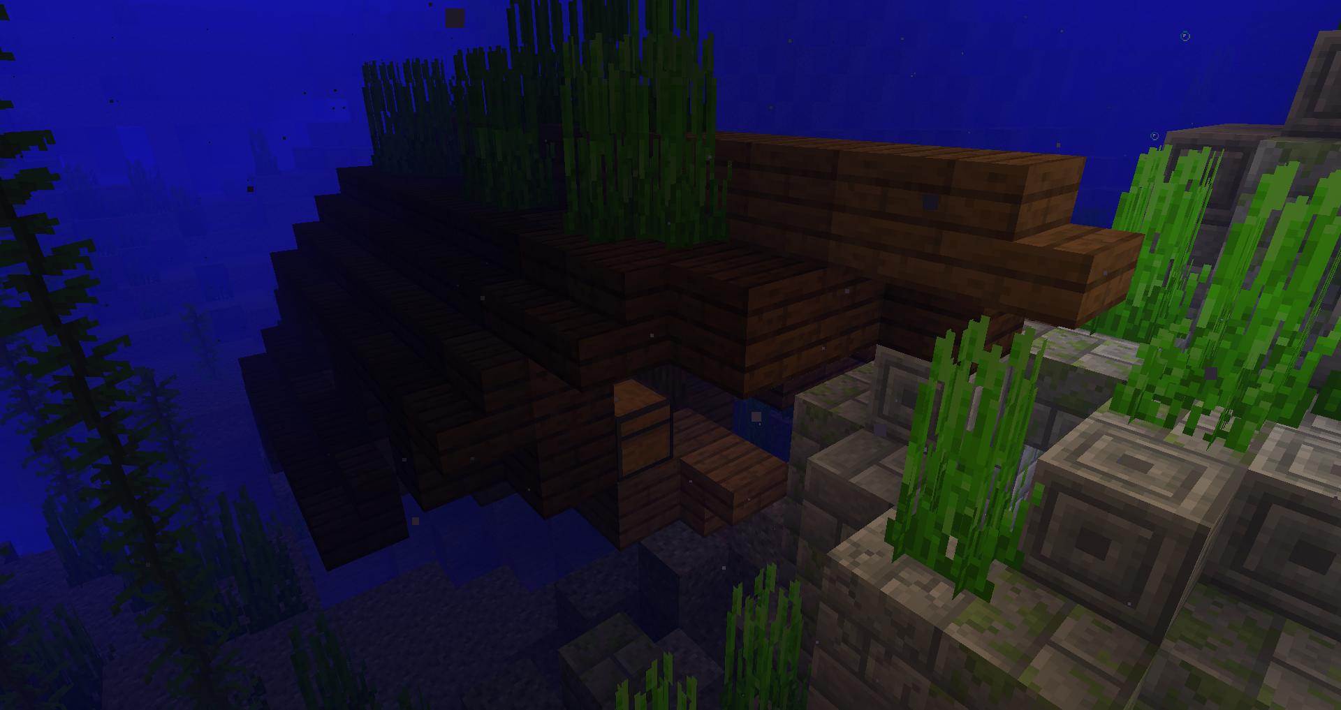 Epave d'un bateau dans Minecraft