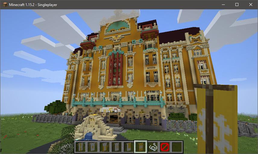 La map Minecraft Redstone Hotel