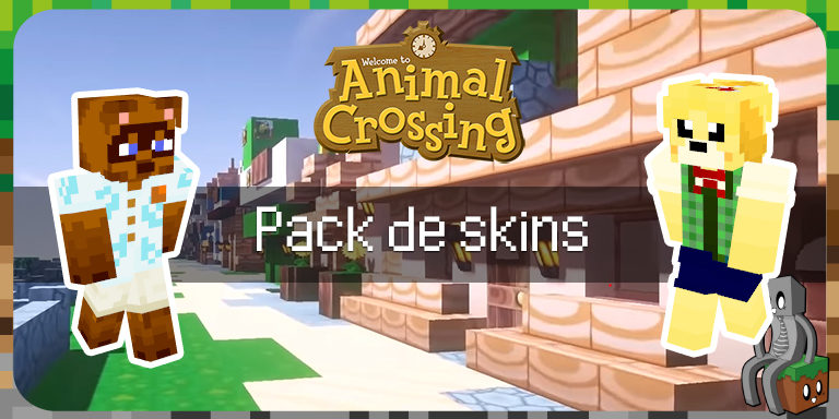 Pack de skins Animal Crossing Pour Minecraft