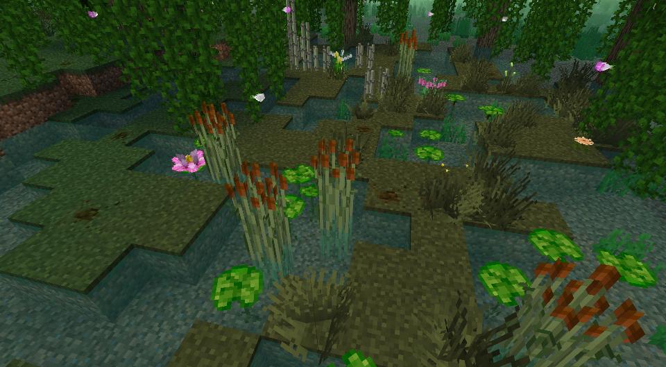 Plantes du resource pack ShengLing en 3D
