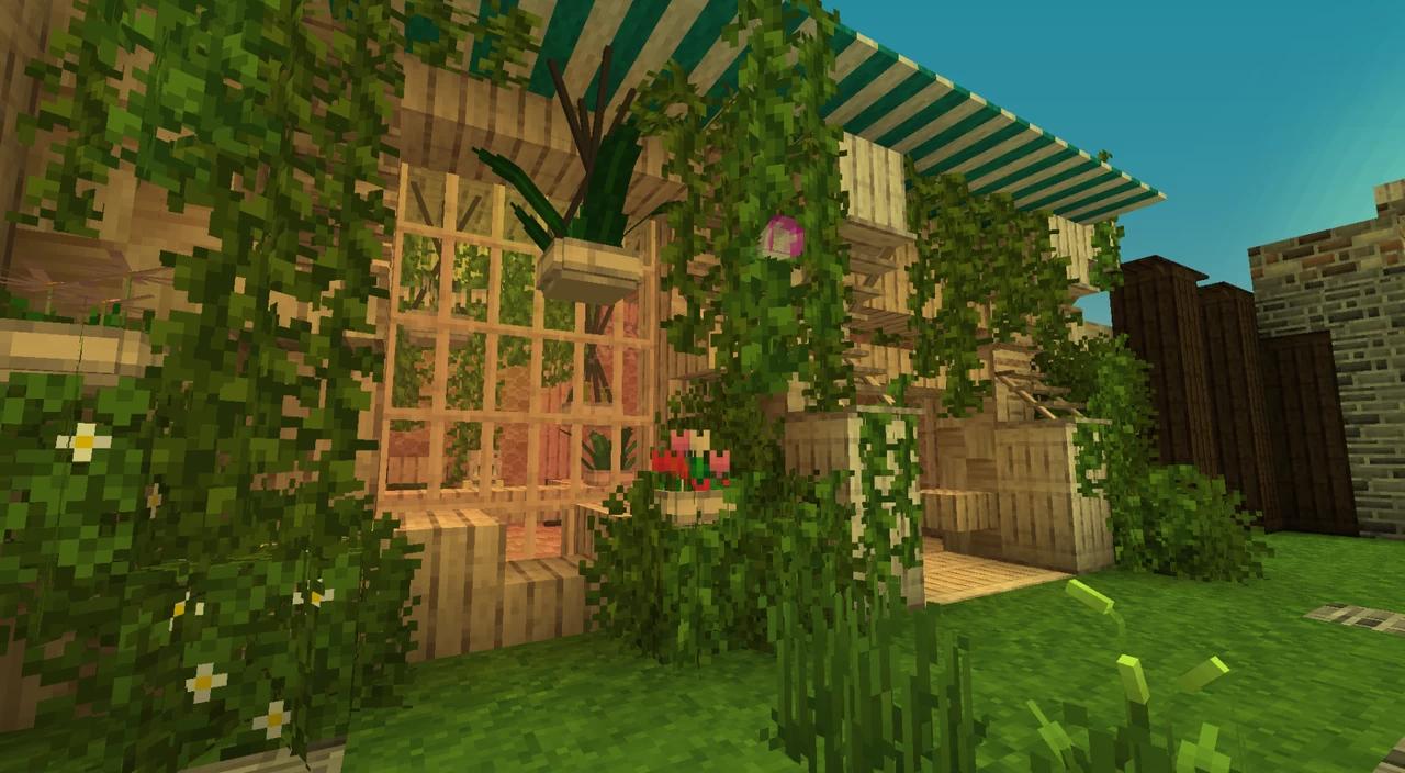 shengling - Des plantes suspendu sur la face de la maison