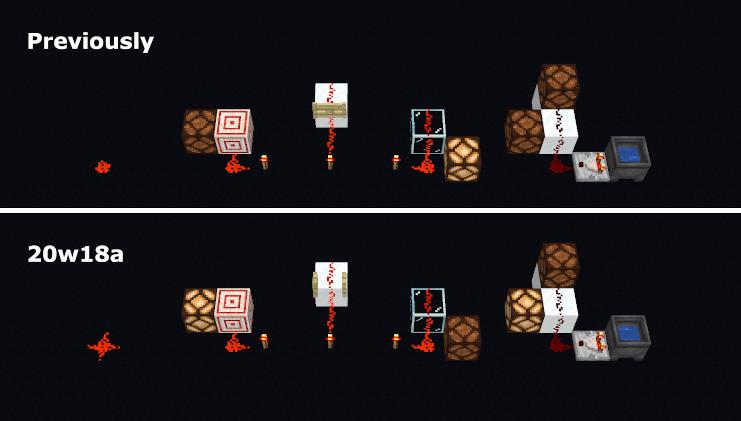 Comportement Redstone 20w18