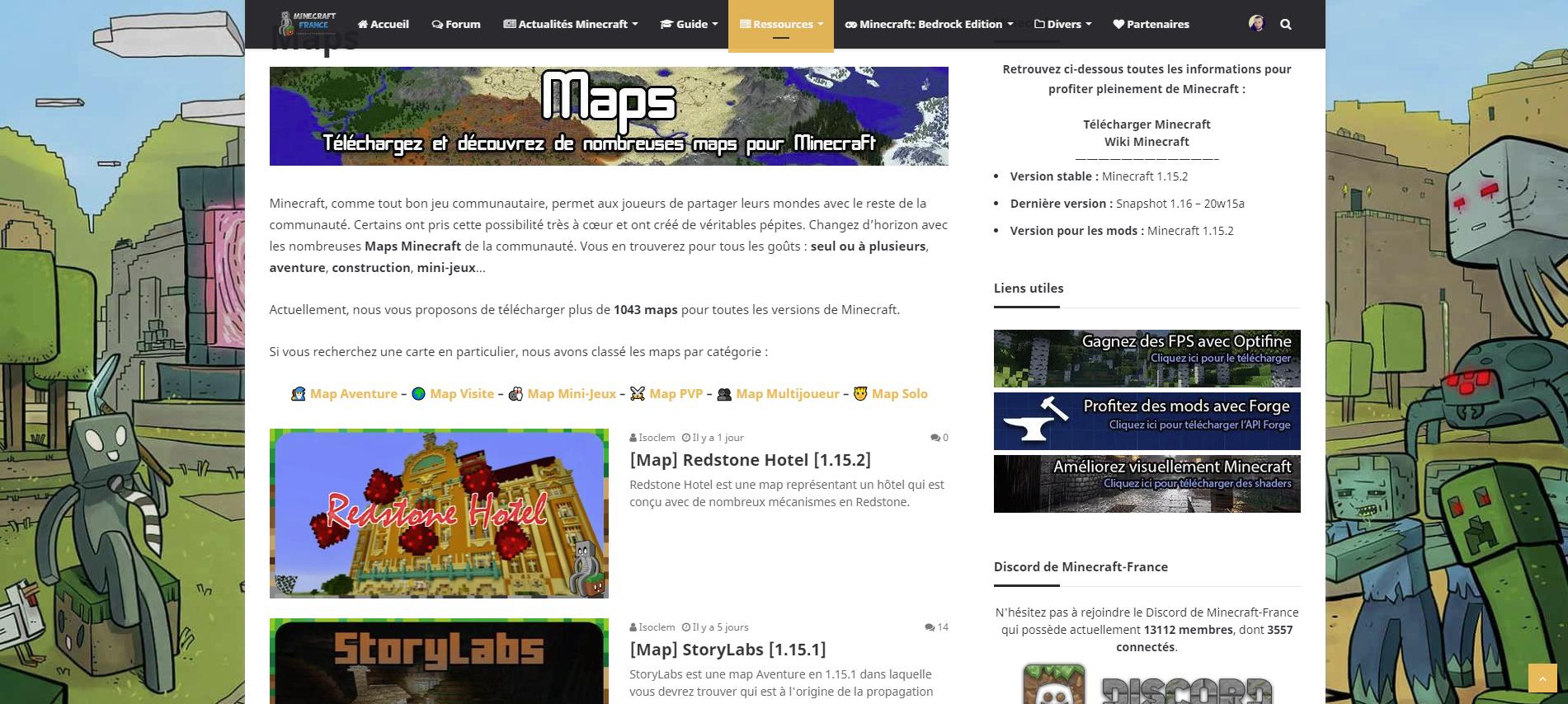 Télécharger une map Minecraft