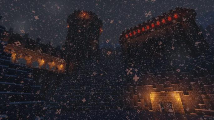 Map King Sigurd's Castle : Le château sous la neige
