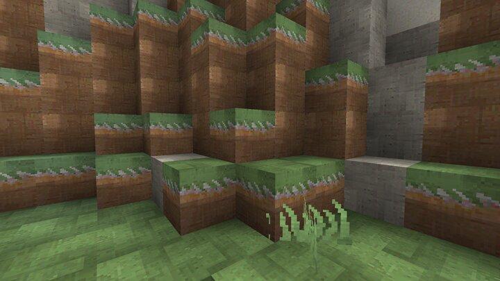 Une représentation des blocs d'herbes