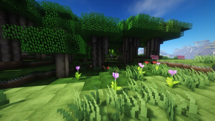 Des herbes hautes dans Minecraft
