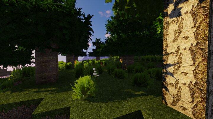 Resource Pack - Pandonis Realistics : Une forêt dans Minecraft