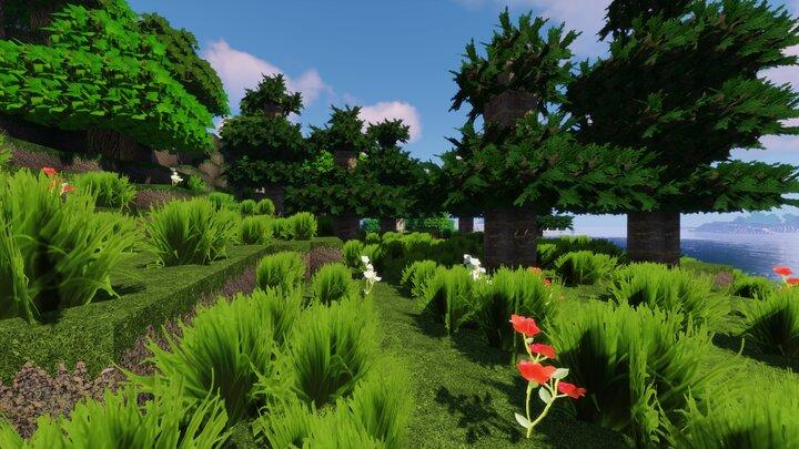 Resource Pack - Pandonis Realistics : L'herbe avec des textures en 3D