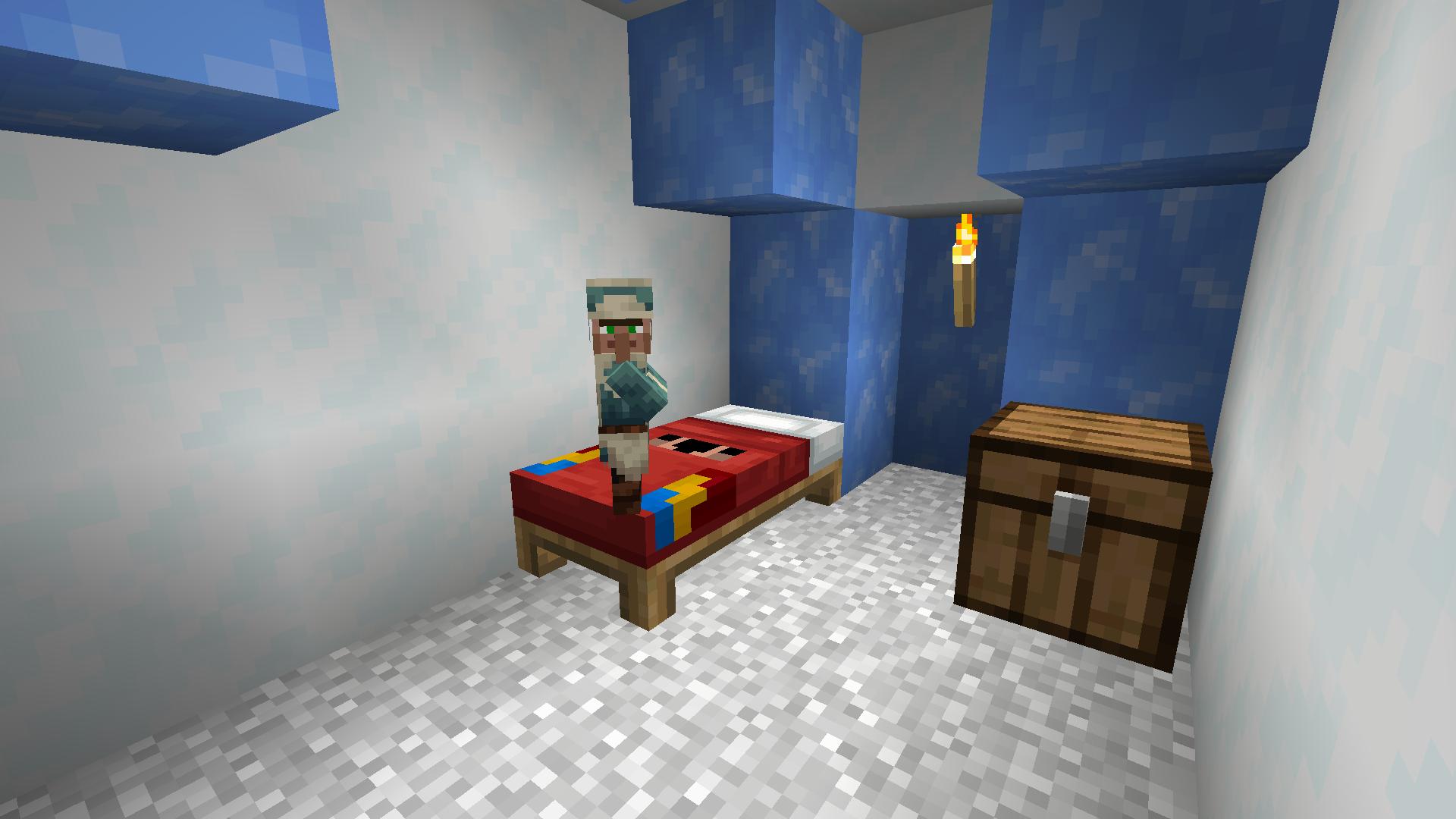 Un lit avec une texture différente