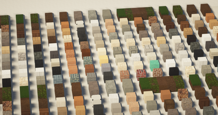 Resource Pack : Cubed Textures 🌲 1.13 - 1.15 - Minecraft-France