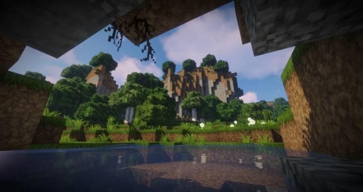 Epic Adventures Paysage avec montagne et petit lac