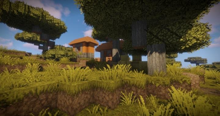 Epic Adventures paysage avec maison en arrière-plan