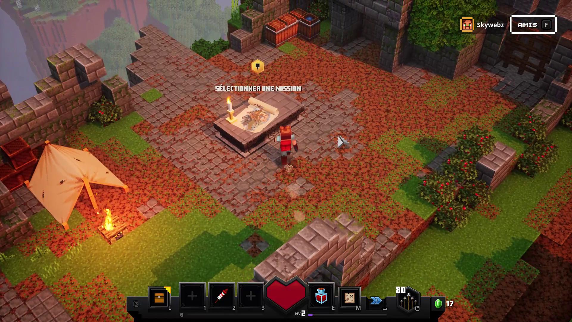 Camp de base Minecraft Dungeons