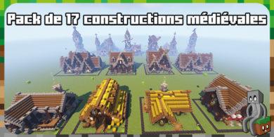 Pack 17 constructions médiévales pour Minecraft